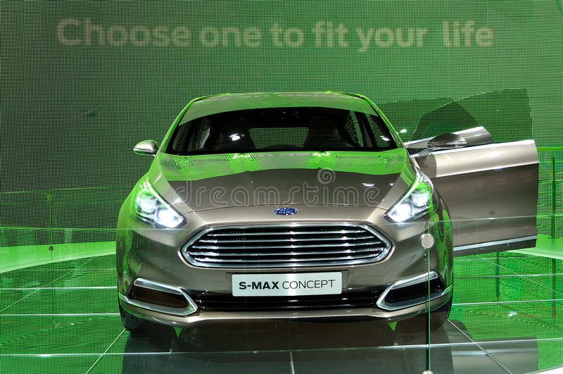 Ford S-max Concept on IAA 2013 stock image