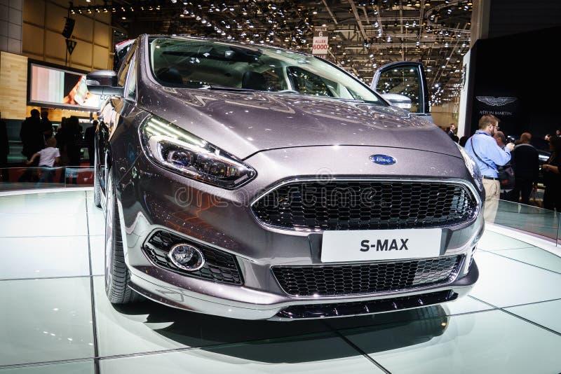 Ford S max, salone dell'automobile Geneve 2015 fotografia stock libera da diritti