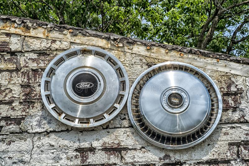Ford stary hubcap obraz royalty free