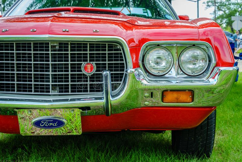 1972 Ford Torino-traliewerk royalty-vrije stock foto's