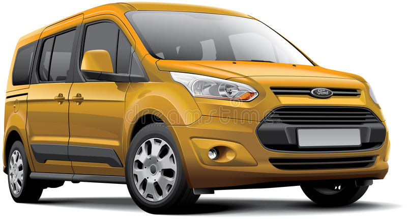 Ford Tourneo Connect stock illustrationer