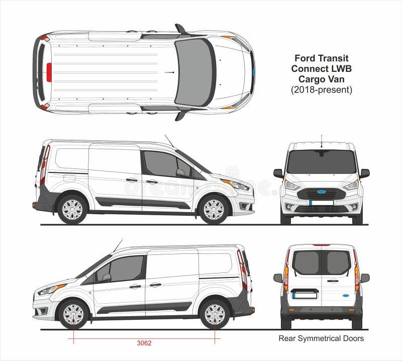 Free Ford Transit Connect LWB Cargo Van 6 Doors 2018 Royalty Free Stock Photos - 147038368