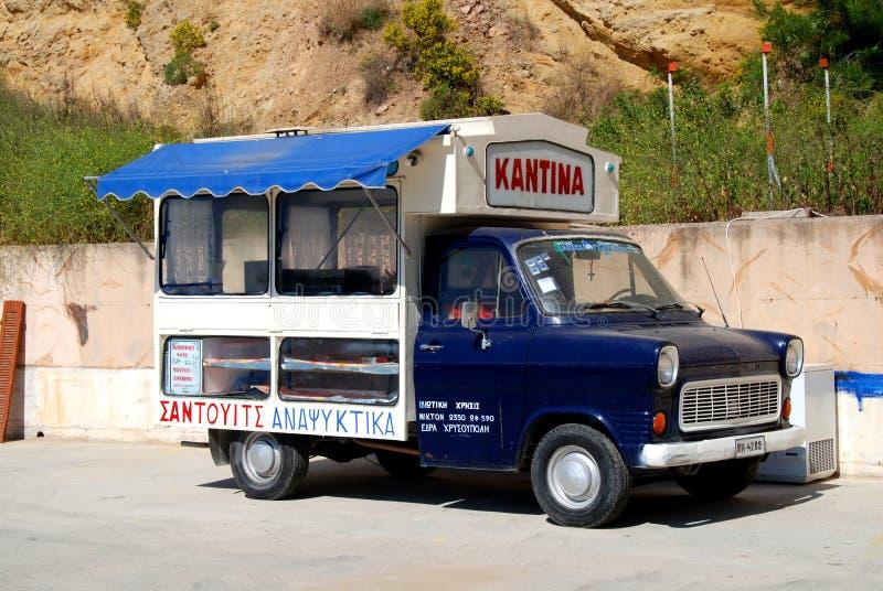 Ford transportfläck 1 som matlastbilen arkivfoton