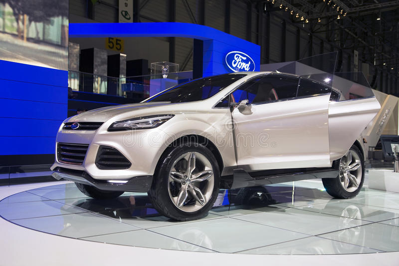 Ford Vertrek Concept Vehicle. Ford Vertrek Concept Sports Utility Vehicle at the 2011 Geneva Motor Show. Photo taken on: March 04th, 2011 stock image