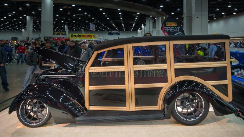 Ford Woodie Wagon 1937 fotos de archivo