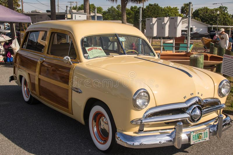 1949 Ford Woody Surf Wagon royalty free stock photo