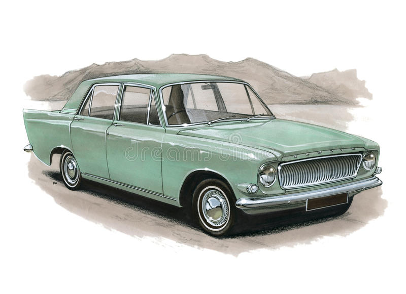 Ford Zephyr MkIII vektor illustrationer