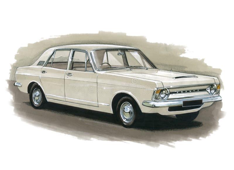 Ford Zephyr MkIV royaltyfri illustrationer