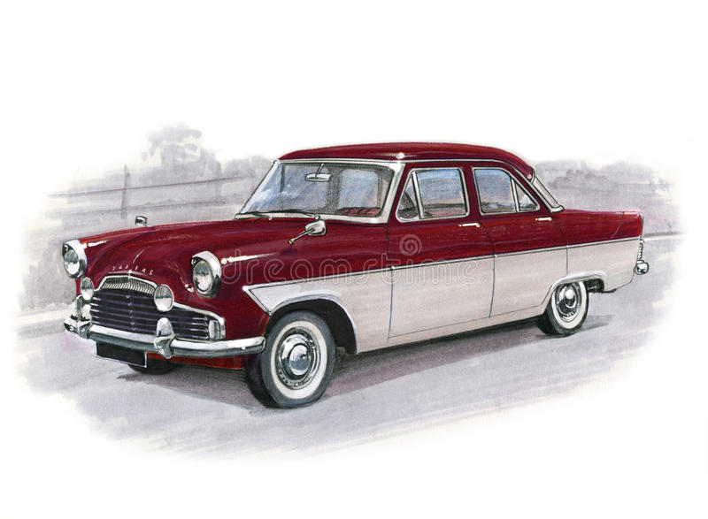 Ford Zodiac MkII vector illustratie