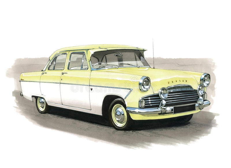 Ford Zodiac MkII stock illustratie