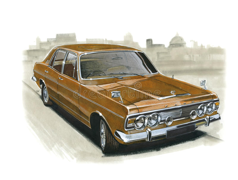 Ford Zodiac MkIV stock illustratie