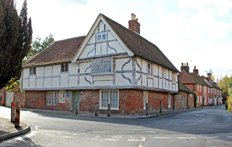 Fordwich town cottage. Photo of a beautiful ancient beamed cottage in the town of fordwich...the smallest town in britain royalty free stock photo