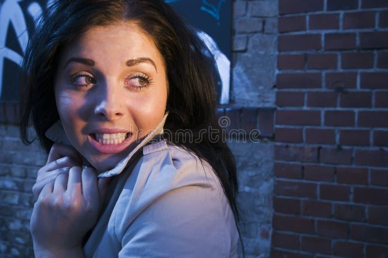 Foreboding женщины стоковая фотография rf