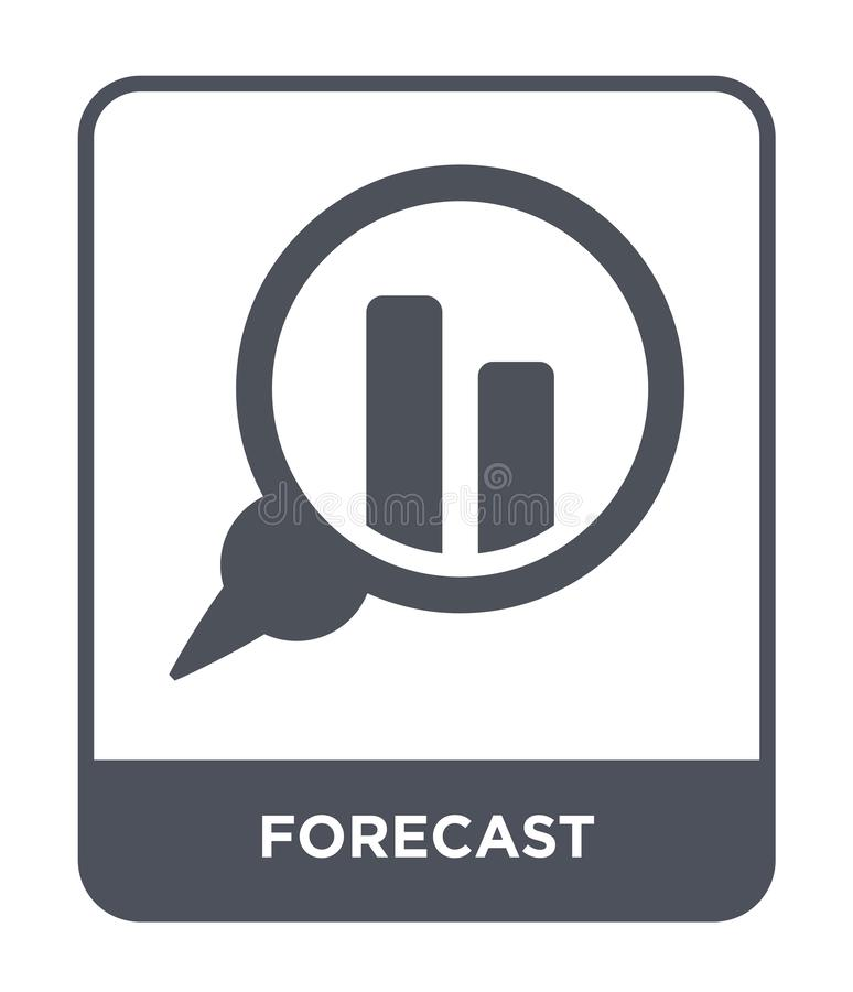 forecast icon in trendy design style. forecast icon isolated on white background. forecast vector icon simple and modern flat vector illustration