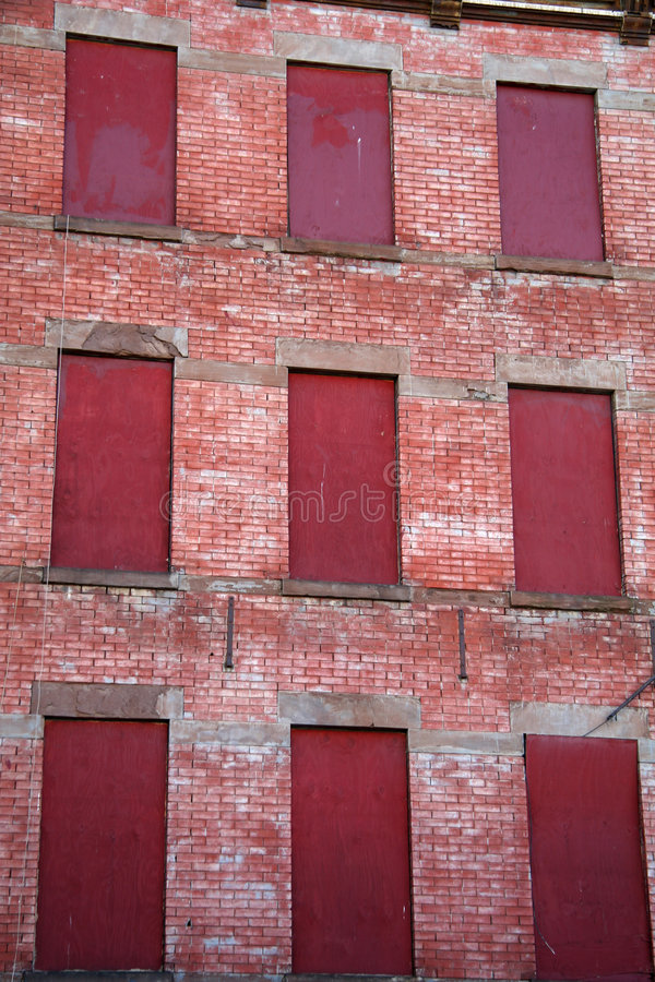 Foreclosed Apartment Building stock photo