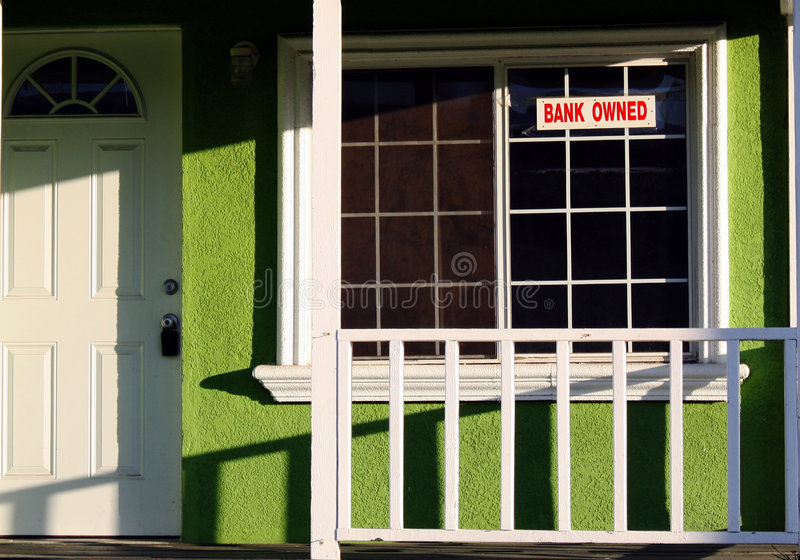 Foreclosed House stock image