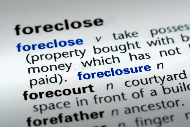 foreclosure определения стоковое фото