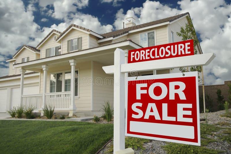 foreclosure domu sprzedaży znak fotografia royalty free