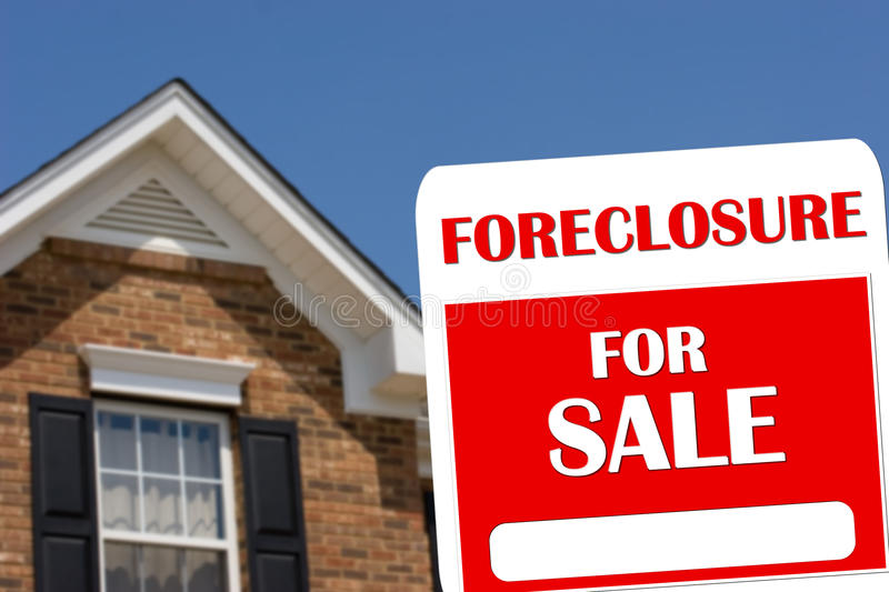 Foreclosure House For Sale royalty free stock images