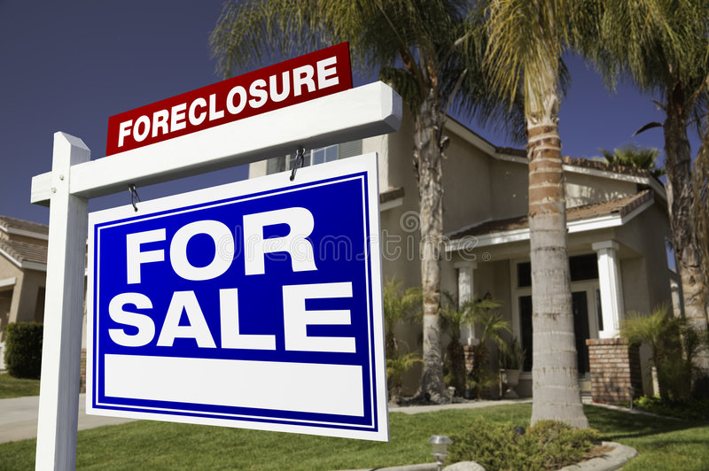 Download Foreclosure For Sale Real Estate Sign And House Stock Image - Image: 8841337