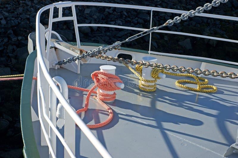 Foredeck van een het werkboot royalty-vrije stock foto