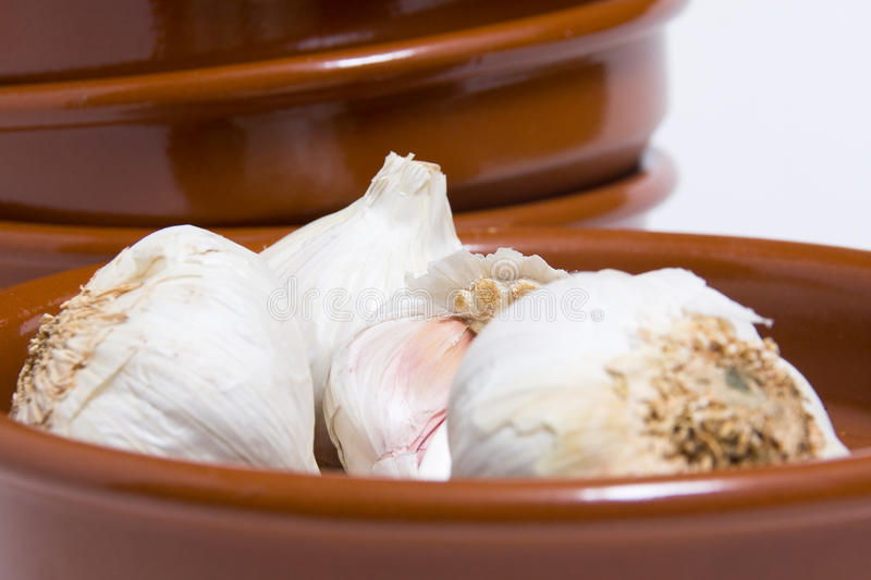 Forefront Of Garlic Stock Photography