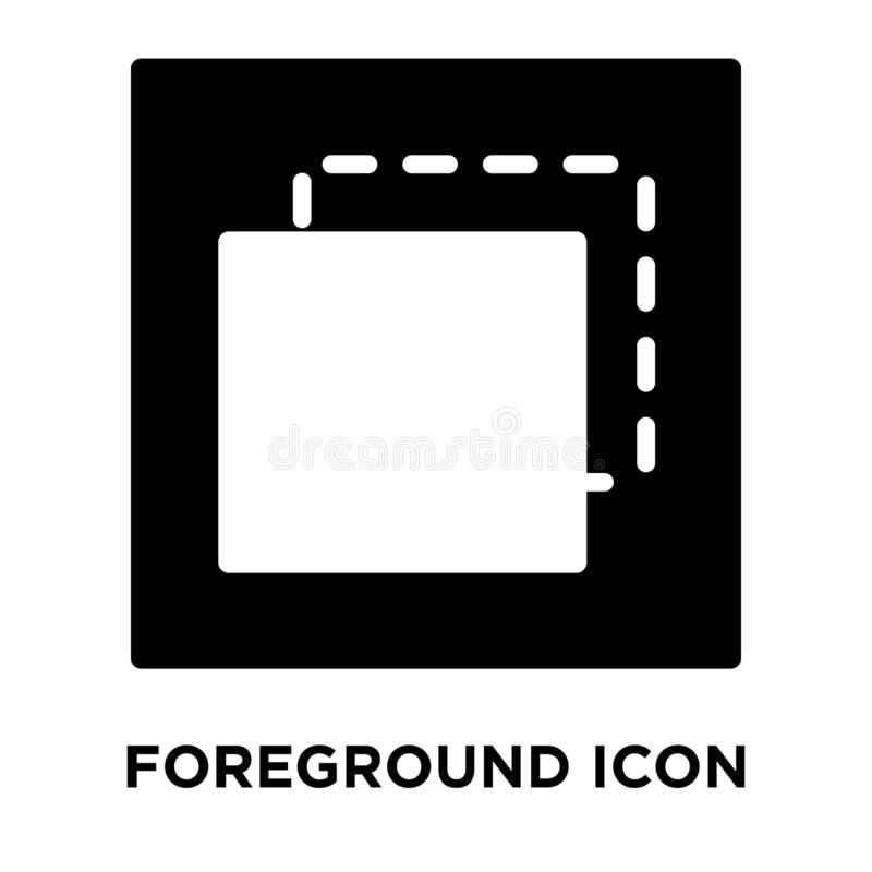 Foreground icon vector isolated on white background, logo concept of Foreground sign on transparent background, black filled royalty free illustration
