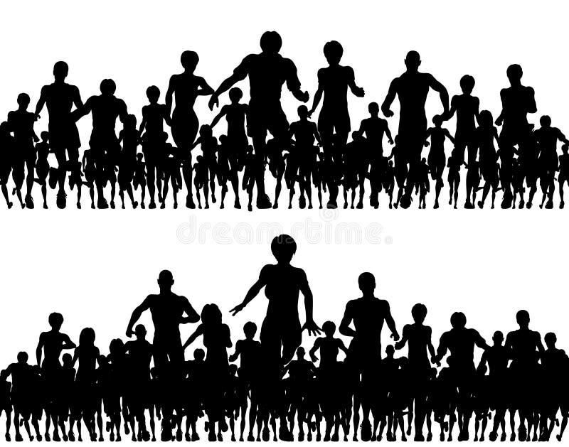 Foregrounds courants illustration libre de droits
