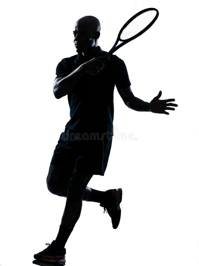 forehanda mężczyzna gracza tenis zdjęcie stock
