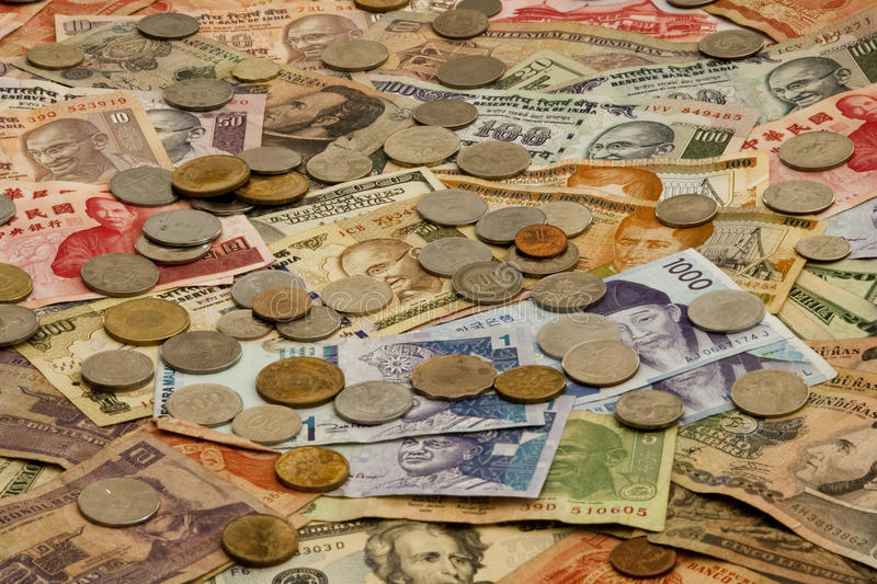 Foreign Currency stock image