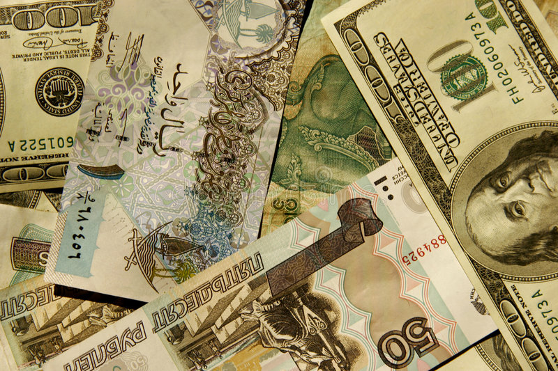 Foreign currency stock photos