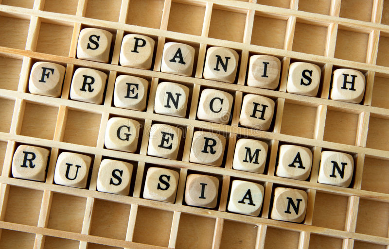Foreign languages stock images