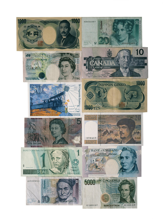 Foreign Money royalty free stock images