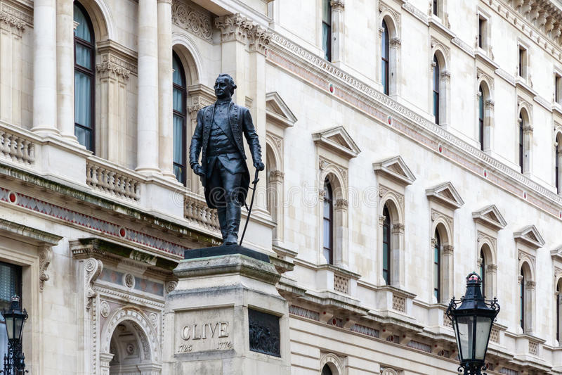 Foreign Office i Robert Clive pomnik w Londyn zdjęcia royalty free