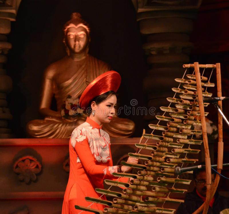 Foreigner artist in Bodhgaya, bihar, India. stock images