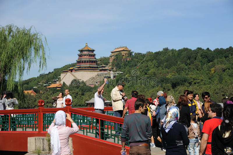 Foreigner in Summer palace stock photos