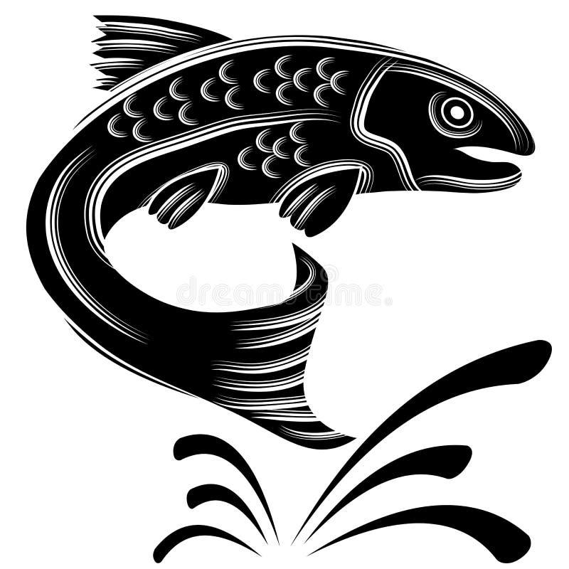 Forell stock illustrationer