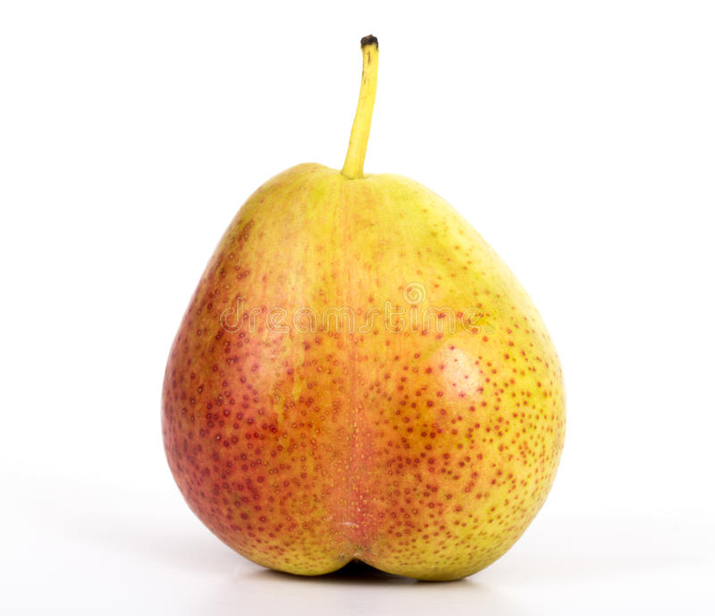 Forelle pear. Close-up on white background stock image
