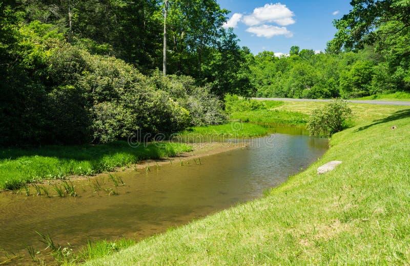 Forellström i Floyd County, USA arkivbild
