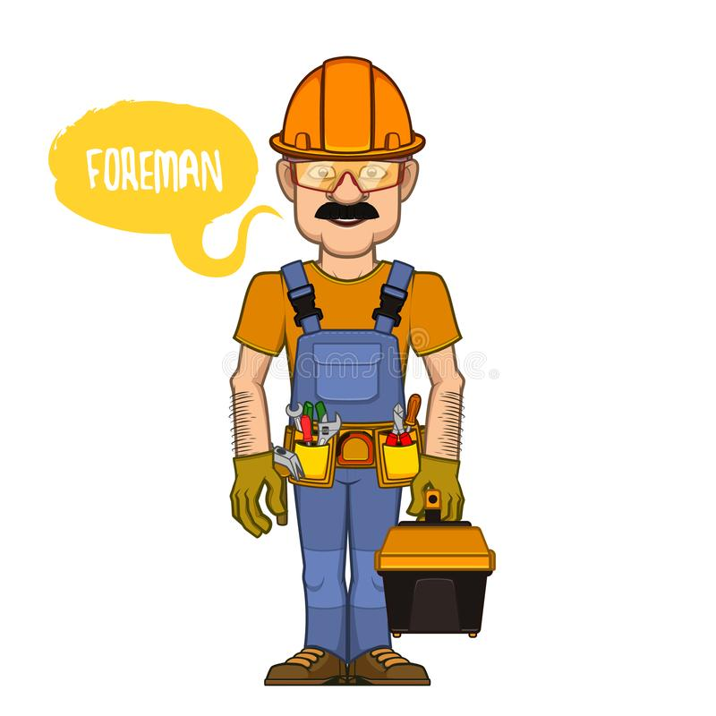 Foreman in a helmet stock image