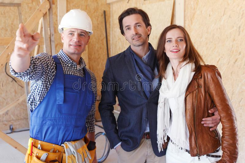 Foreman shows new house stock photo