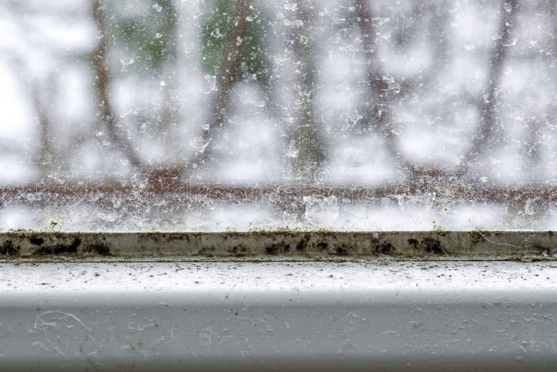 Foremka i brud na okno obraz stock