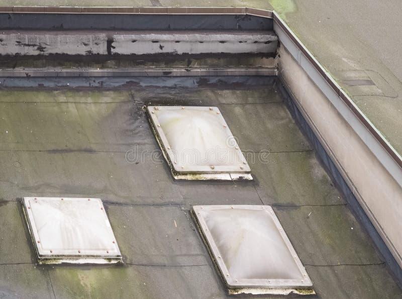 foremka na płaskim dachu obrazy stock