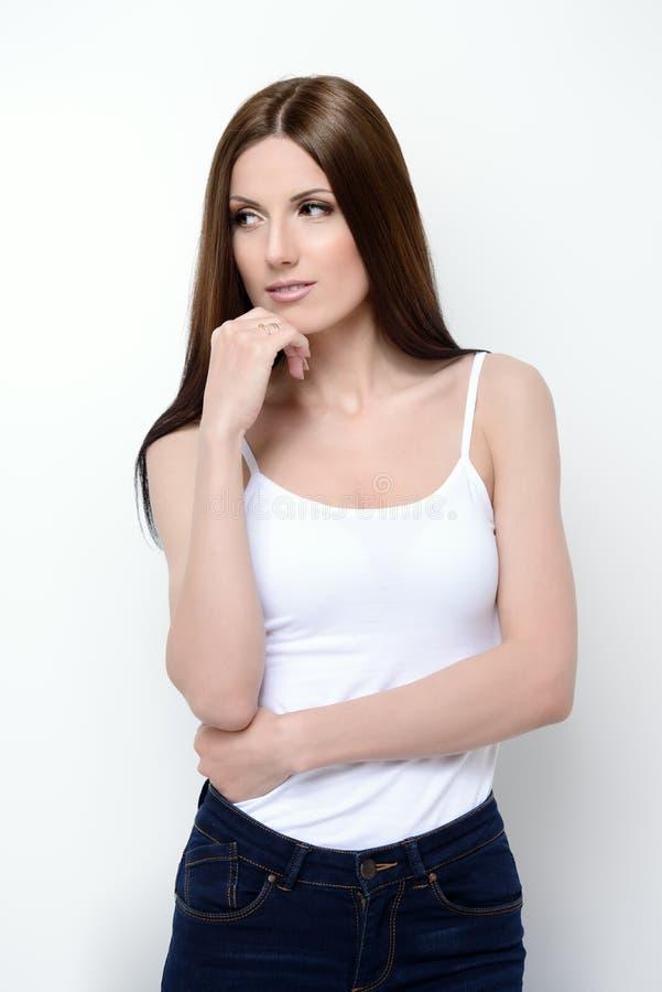 Foremna piękna brunetka zdjęcia royalty free