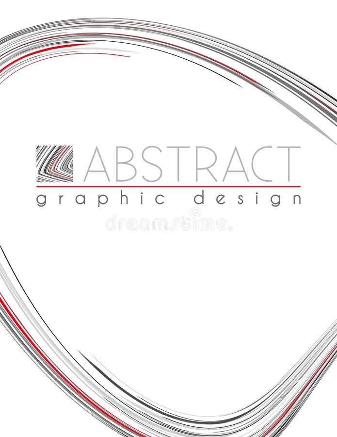 foremność Abstrakcjonistyczny szablon z czarnym, czerwień i szarość, cieniejemy lampasy royalty ilustracja