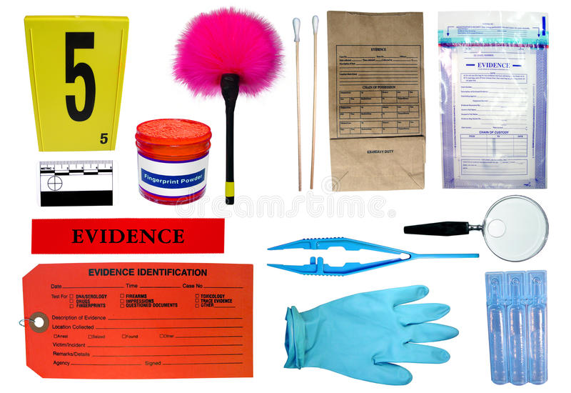 Download Forensic Investigation Kit stock photo. Image of brush - 20432678