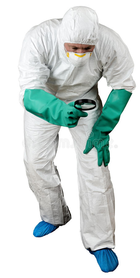 Forensic search stock photo