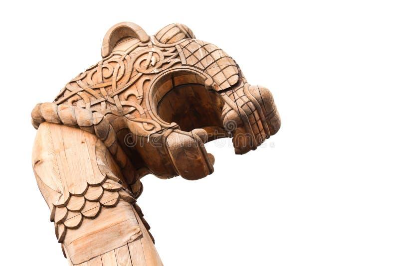 forepart antyczny statek Viking drewniany zdjęcia stock