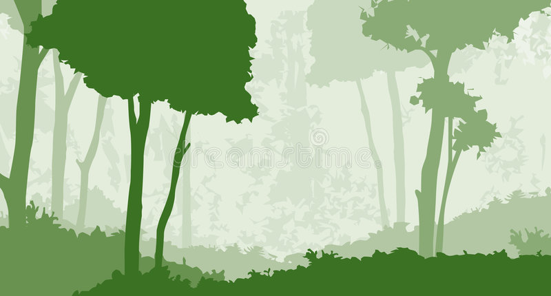 Forest 1. A forest illustration done in layers
