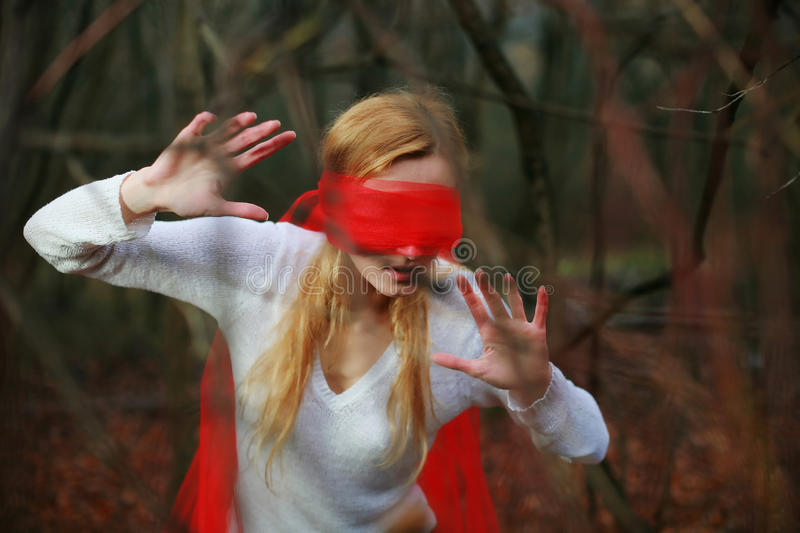 Download In a forest stock photo. Image of face, phobia, perception - 12140278